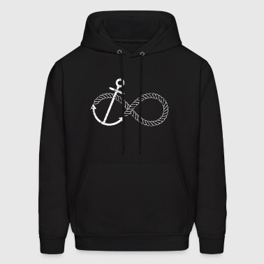 Infinity Knot Anchor Boat Knot Nautical Sailing - Men's Hoodie