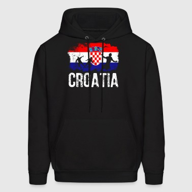 Croatian soccer player flag of Croatia Long Sleeve - Men's Hoodie