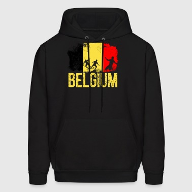 Belgian soccer player flag of Belgium Long Sleeve - Men's Hoodie