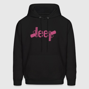 I LOVE JEEP AND GUNS JEEP - Men's Hoodie