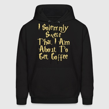 I solemnly swear phat i am about to get coffee - Men's Hoodie
