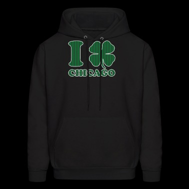 I Shamrock Chicago Love St Patricks Day Clover - Men's Hoodie