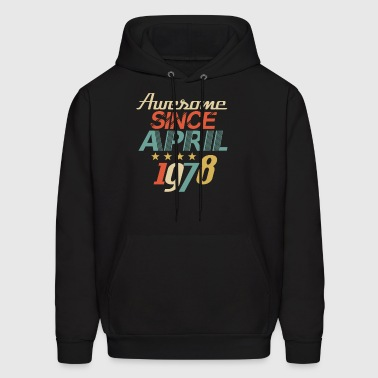 Awesome Since April 1978 - Birthday B-Day - Men's Hoodie