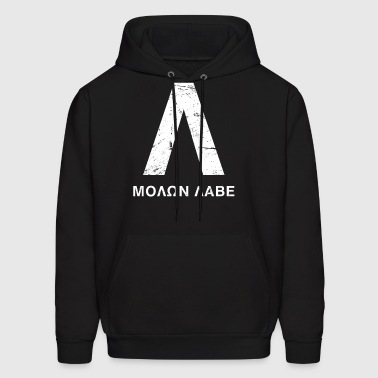 Distressed Spartan Lambda - Molon Labe - Men's Hoodie