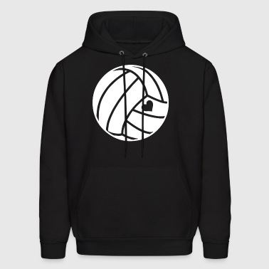 Heart Love Volleyball T Shirts - Men's Hoodie