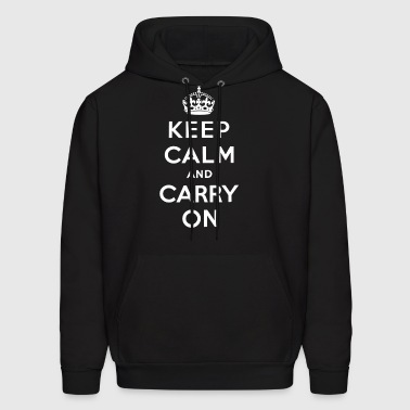 keep calm and carry on t shirts - Men's Hoodie