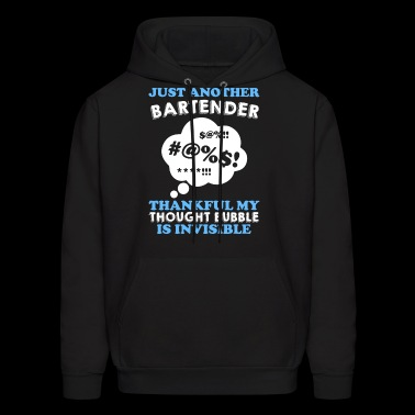 just another bertender thankfull my thought bubble - Men's Hoodie