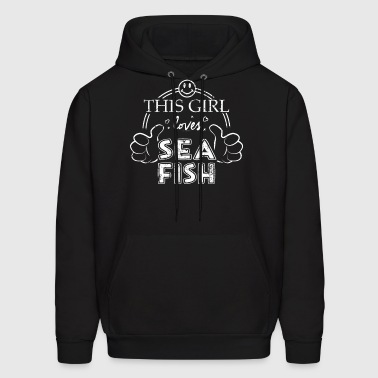 Zoology College Shirt Girl Loves Sea Fish Shirt - Men's Hoodie