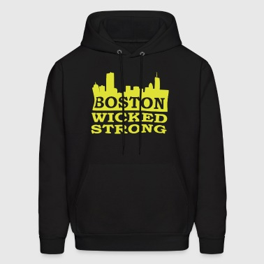 Boston Wicked Strong Marathon Boston Marathon Bost - Men's Hoodie