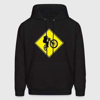 Mountain Biking Street Sign - Men's Hoodie