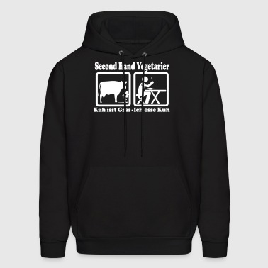 Second Hand Vegetarier - Men's Hoodie