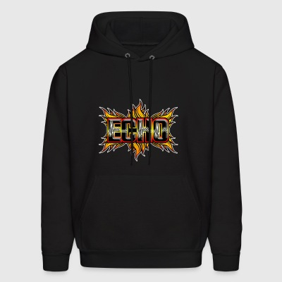 Echo with red and yellow fire - Men's Hoodie