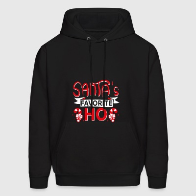 Santa's Favorite Ho - Wordplay Xmas Bitch Gifts - Men's Hoodie