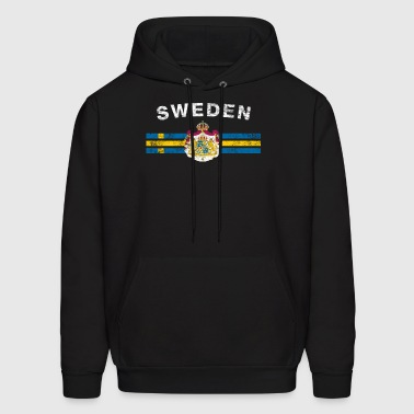 Swede Flag Shirt - Swede Emblem & Sweden Flag Shir - Men's Hoodie