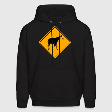 Okapi Road Sign - Men's Hoodie