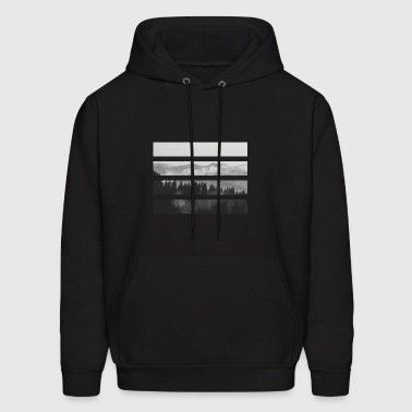 Striped Mountains - Men's Hoodie
