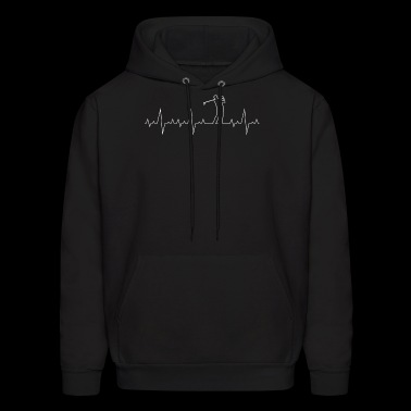 Heartbeat Golf - Lover - I Love Golf - Sport -Gift - Men's Hoodie