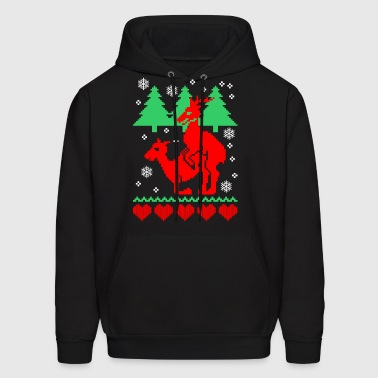 Ugly Christmas Humping Reindeer - Men's Hoodie
