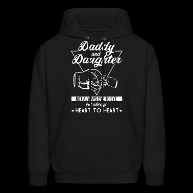 Daddy and Daughter not always eye to eye - Men's Hoodie