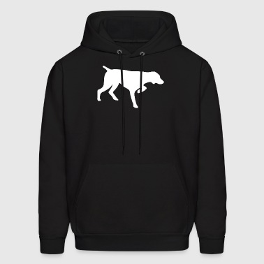 GERMAN SHORTHAIRED POINTER - VECTOR GRAPHIC - Men's Hoodie