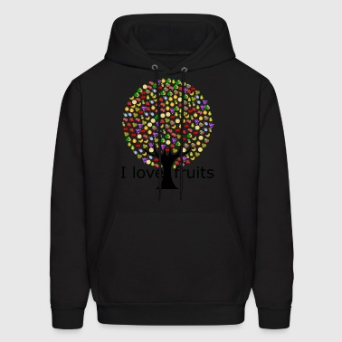 I love fruits. - Men's Hoodie