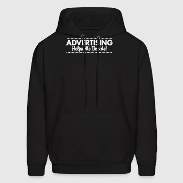 New Design Advertising Helps Me Decide Bets seller - Men's Hoodie