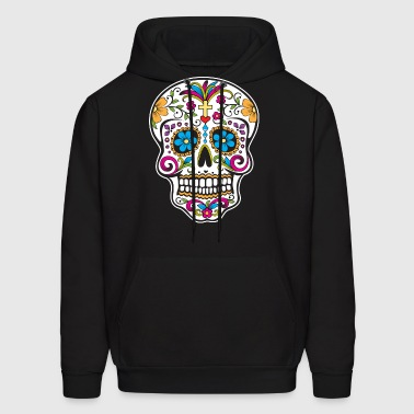 sugar_skull_colored - Men's Hoodie