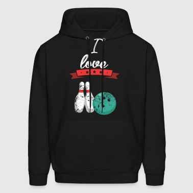 I love Bowling sports gift - Men's Hoodie