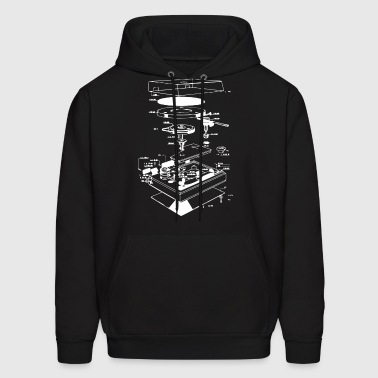 Vinyl Turntable Diagram - Men's Hoodie