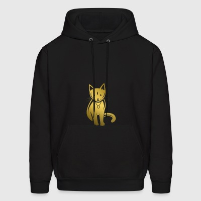 cat golden - Men's Hoodie