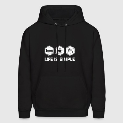 LIFE IS SIMPLE - BASKETBALL SHIRT FOR WOMAN | MEN - Men's Hoodie