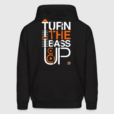 TURN THE BASS UP - Speaker and Music - Men's Hoodie