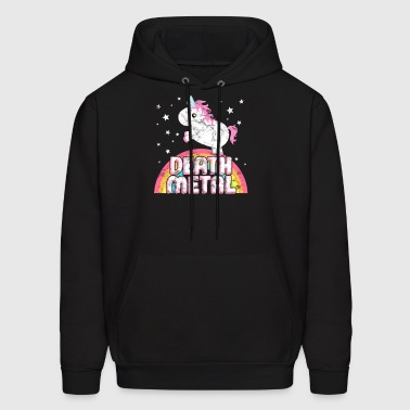 Ironic Death Metal Music Festival Party Unicorn - Men's Hoodie