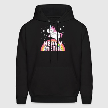 Ironic Heavy Metal Music Festival Party Unicorn - Men's Hoodie