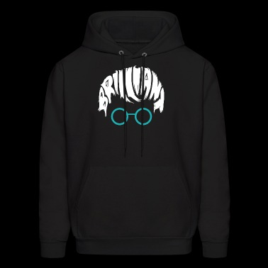 Brilliant Head with glases - Men's Hoodie