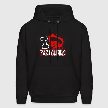 I Love Paragliding Shirt - Men's Hoodie