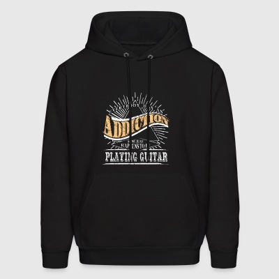 Addiction Is Guitar Shirt Gift Guitarist Shirt - Men's Hoodie