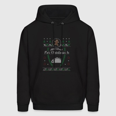 Mexican Food Funny Taco Christmas Ugly Shirt - Men's Hoodie