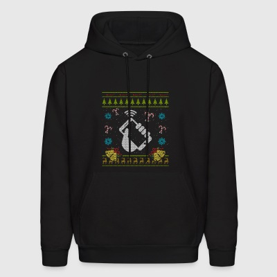 Phone Christmas Ugly Sweater Funny Cell Phone Mobile Phone - Men's Hoodie
