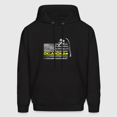 Oklahoma Police Dispatcher Flag Gifts Shirt - Men's Hoodie