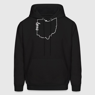Ohio Love State Outline - Men's Hoodie