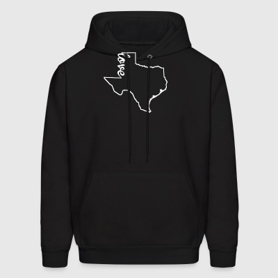 Texas Love State Outline - Men's Hoodie
