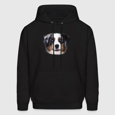 Australian Shepherd Face Shirt - Men's Hoodie