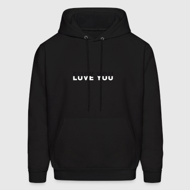 fuck Love you typo sign black white yin yang team - Men's Hoodie