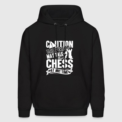 Caution Chess Funny Shirt - Men's Hoodie