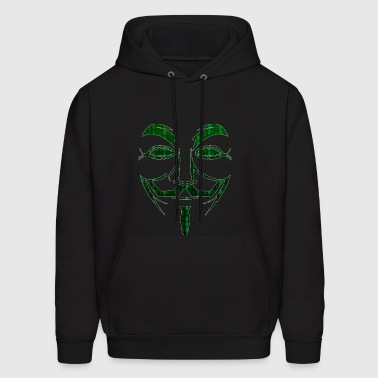 Guy Fawkes Anonymous Hacker Hacktivist Cyber - Men's Hoodie