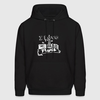 I Love Paris Shirt - Men's Hoodie