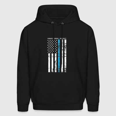 THIN BLUE LINE FLAG POLICE LIVES MATTER - Men's Hoodie