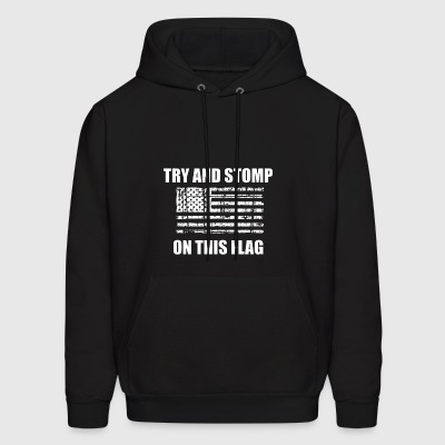 Try an stomp on this flag american usa PATRIOTIC - Men's Hoodie