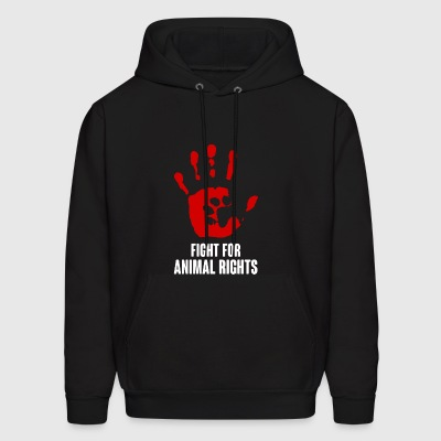 Fight For Animal Rights Vegan - Men's Hoodie